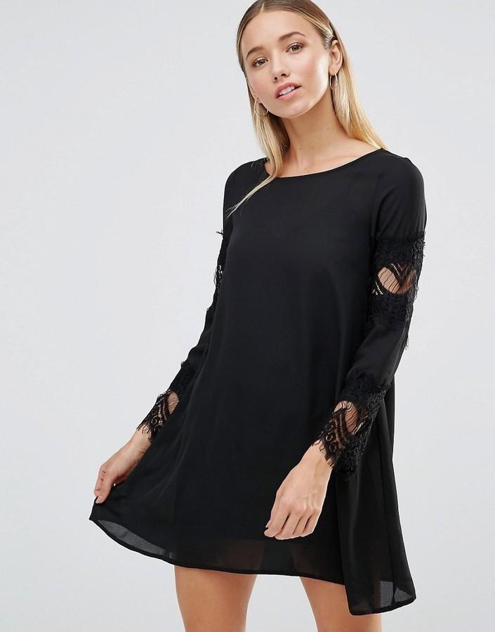 cf56e0ac74027 AX Paris Lace Detail Swing Dress, £29 | Asos | Lookastic UK