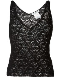 Christian Dior Vintage Lace Knit Tank Top
