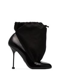 Prada 110 Patent Leather Drawstring Boots