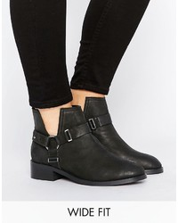 Asos Aintree Wide Fit Leather Ankle Boots