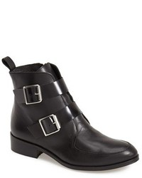 Topshop Air Double Strap Leather Ankle Boot