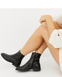 ASOS DESIGN Albany Leather Sock Boots