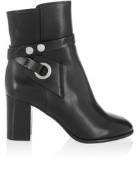 Isabel Marant Ashes Leather Ankle Boots Black