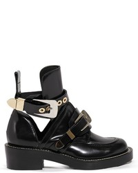 Balenciaga Ceinture Cut Out Leather Ankle Boots
