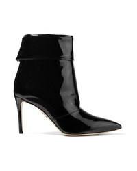 Paul Andrew Banner Patent Leather Ankle Boots
