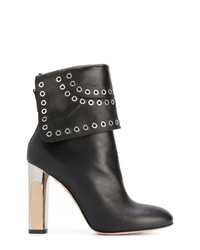 Alexander McQueen Bi Coloured Sculpted Heel Eyelet Ankle Boots
