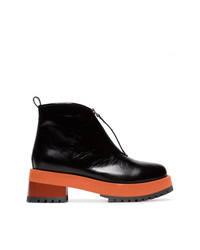 Marni Black 65 Zip Leather Ankle Boots