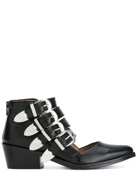 Toga Pulla Buckle Strap Cut Out Ankle Boots