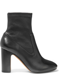 Vince Calist Stretch Leather Ankle Boots Black
