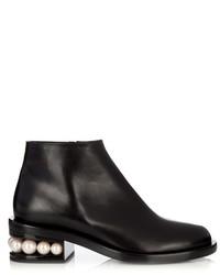 Nicholas Kirkwood Casati Pearl Heeled Leather Ankle Boots