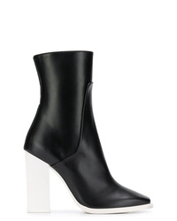 Lanvin Contrast Heel Ankle Boots