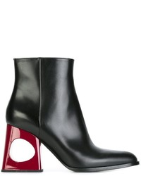 Marni Contrasting Heel Ankle Boots