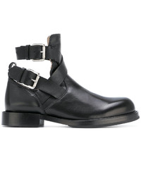 Diesel Cut Out Buckled Ankle Boots