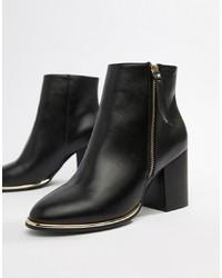 ASOS DESIGN Eartha Zip Ankle Boots