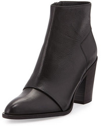 Vince Ennis Leather Ankle Boot Black
