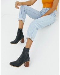 ASOS DESIGN Evaline Leather Ankle Boots Leather