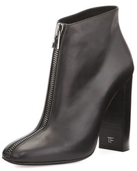 Tom Ford Front Zip Leather Ankle Boot