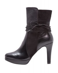 s.Oliver High Heeled Ankle Boots Black