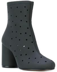 Maison Margiela Hole Punch Mid Heel Ankle Boots