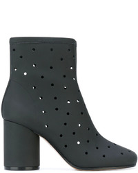 Maison Margiela Hole Punch Mid Heel Ankle Boots