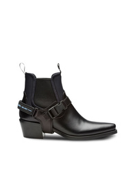Prada Leather And Neoprene Booties