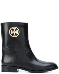 Tory Burch Logo Ankle Boots
