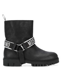 Moschino Logo Band Ankle Boots