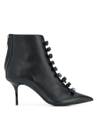 MSGM Logo Bow Pointed Toe Boots