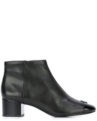 Tory Burch Logo Plaque Ankle Boots