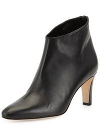 Manolo Blahnik Macas Napa Leather Ankle Boot Black