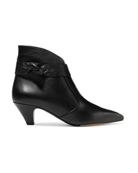 Tabitha Simmons Nixie Knotted Leather Ankle Boots