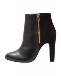 Only Onlberyl Zip Heeled Ankle Boots Black