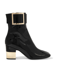 Roger Vivier Patent Leather Ankle Boots
