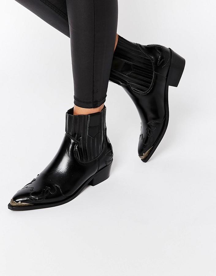 b79d271dbc8 £123, Mango Premium Steel Cap Western Ankle Boot