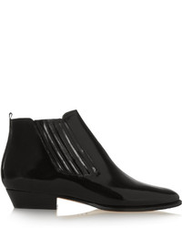 Isabel Marant Presley Glossed Leather Ankle Boots
