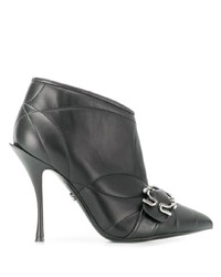 Dolce & Gabbana Quilted Buckled Leather Booties