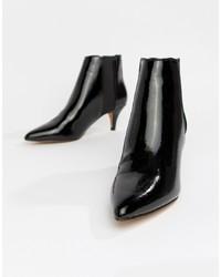 ASOS DESIGN Ramona Kitten Heeled Boots Patent