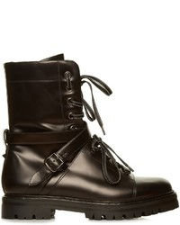 Valentino Rockstud Tread Sole Leather Ankle Boots