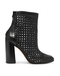 Souliers Martinez Sardaigne Woven Leather Ankle Boots