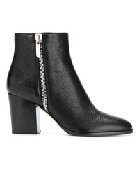 Sergio Rossi Side Zipped Ankle Boots