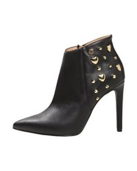 Moschino Spikes Bootie Ankle Boots Nero