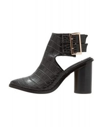 LOST INK Suki Ankle Boots Black