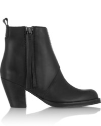Acne Studios The Pistol Leather Ankle Boots Black