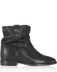 Isabel Marant Toile Cluster Leather Concealed Wedge Ankle Boots