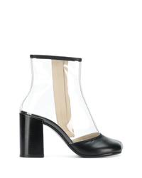 MM6 MAISON MARGIELA Transparent Panel Ankle Boots