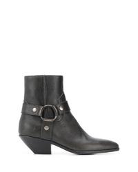 Saint Laurent West Harness Ankle Boots