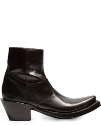 Vetements X Lucchese Leather Ankle Boots