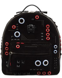 Versace Abstract Embroidery Backpack