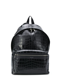 Saint Laurent Crocodile Effect City Backpack