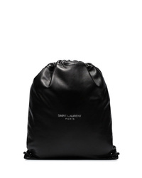 Saint Laurent Drawstring Leather Backpack
